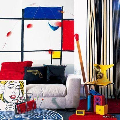Chic Interior Design Inspired By Pop Art Design Pics
