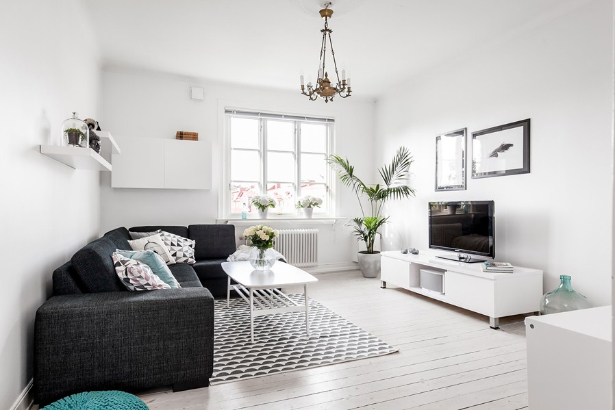 Modern And Cool Black And White Living Room For Your Home