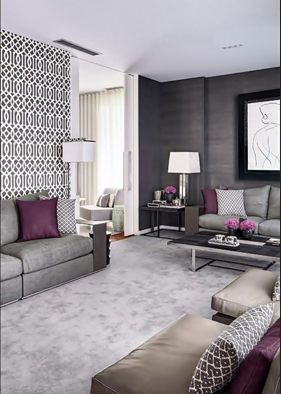 Using Gray Accents For Modern Living Room