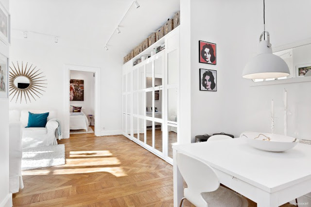 Cheerful White Apartment Interior Design