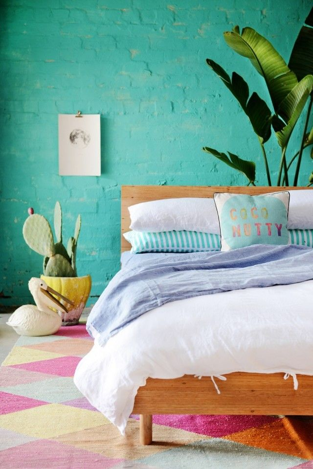 beautiful and impressive turquoise bedroom - Turquoise Bedroom Designs