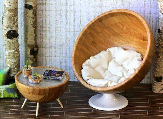 Beautiful Wood Egg Chair