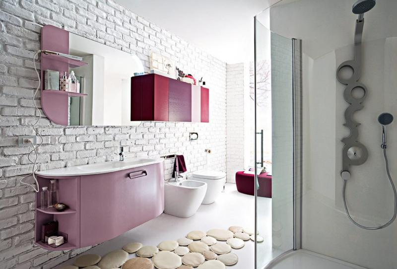 Elegant Modern Pink Bathroom Design Beautiful Modern Bathroom Wallpaper Design