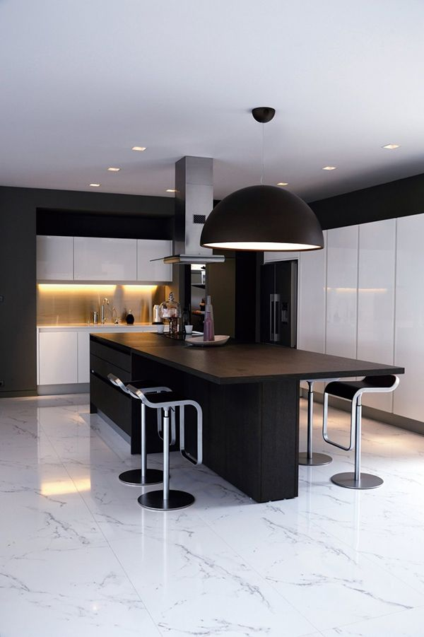 Black And White Kitchen Island Design For Your Kitchen