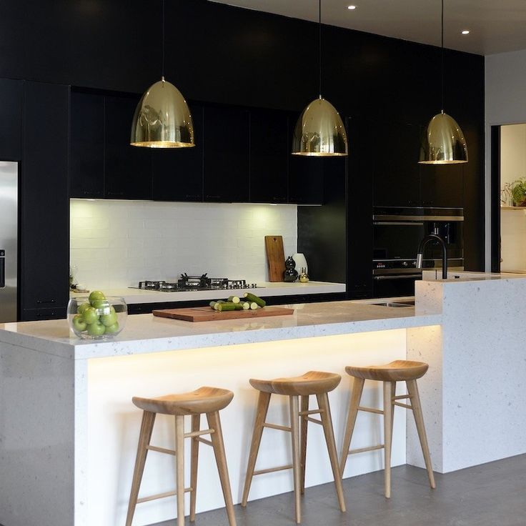 Black, White And Gold Color Scheme For Your Sophisticated Kitchen