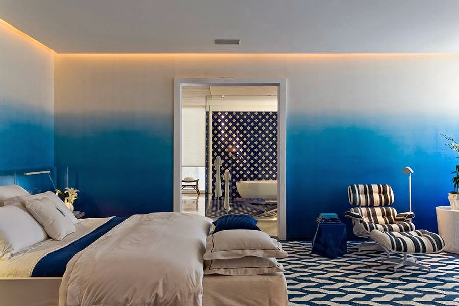 Blue Marine Color For Your Chic And Relaxing Bedroom