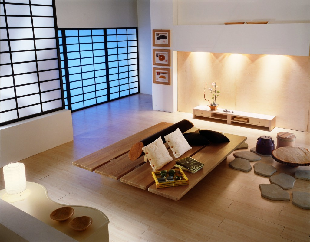 Zen Living Room Design With Japanese Furniture Inspiration ...