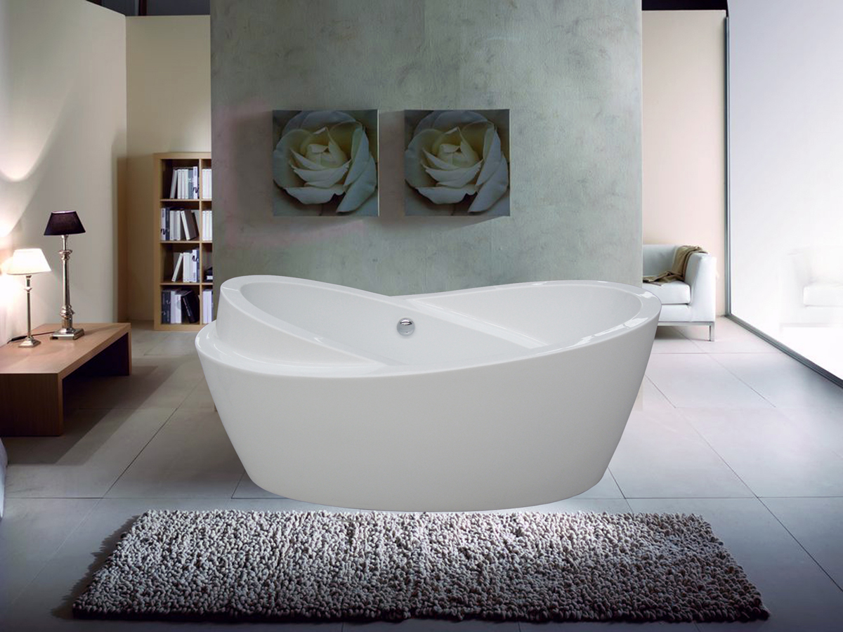 Contemporary Acrylic Free Standing Bathtub Design Idea