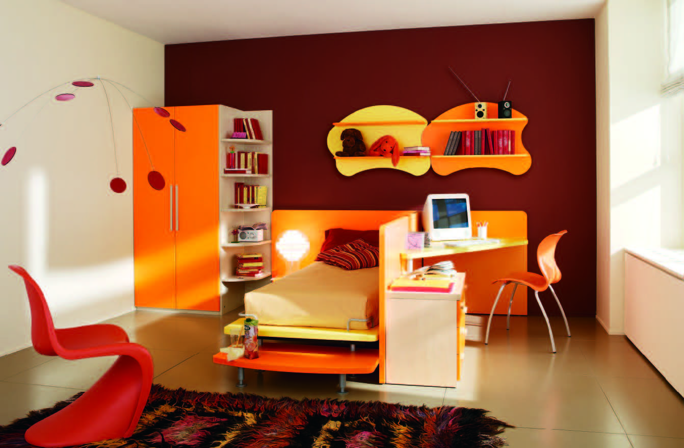 Bedroom Designs Orange And Brown modern kids room design ideas, remodels & photos | design pics