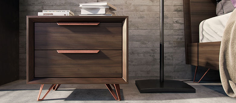 Fabulous Modern Brown Nightstand Design