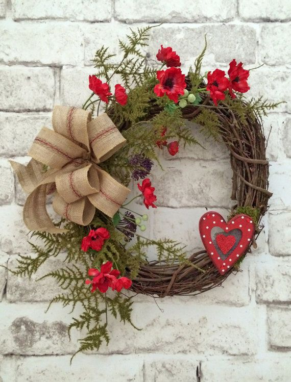 Decorating Your Front Door With Valentine's Day Wreath