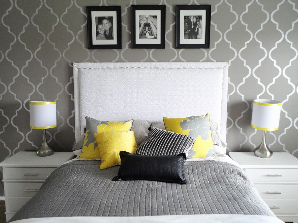 Extraordinary Gray Bedroom Design Ideas White Headboard