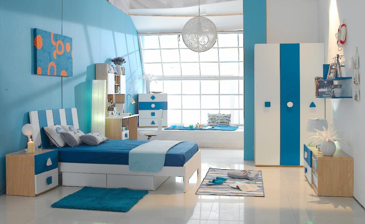 ideas for kids bedroom futuristic blue and white kids bedroom frniture design - Kids Room Design Ideas