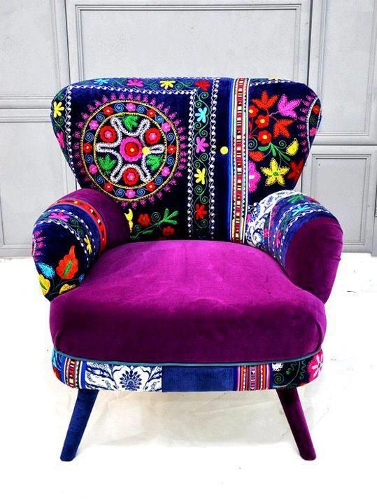 Gorgeous Colorful Bohemian Chair