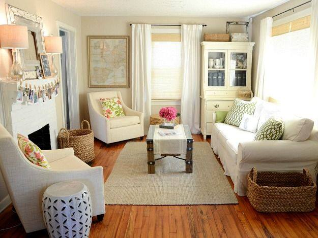 Great Ideas For Decorating Small Living Rooms