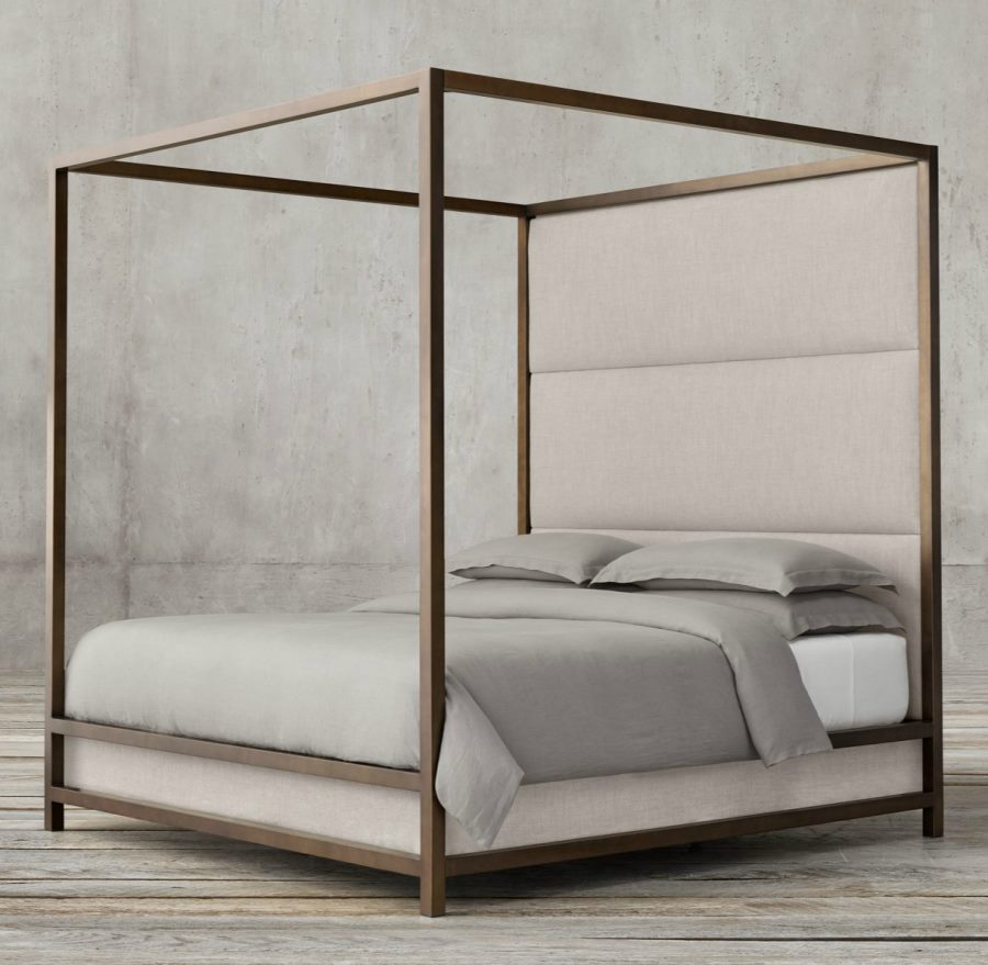 Contemporary High Panel Four Poster Bed For Your Home