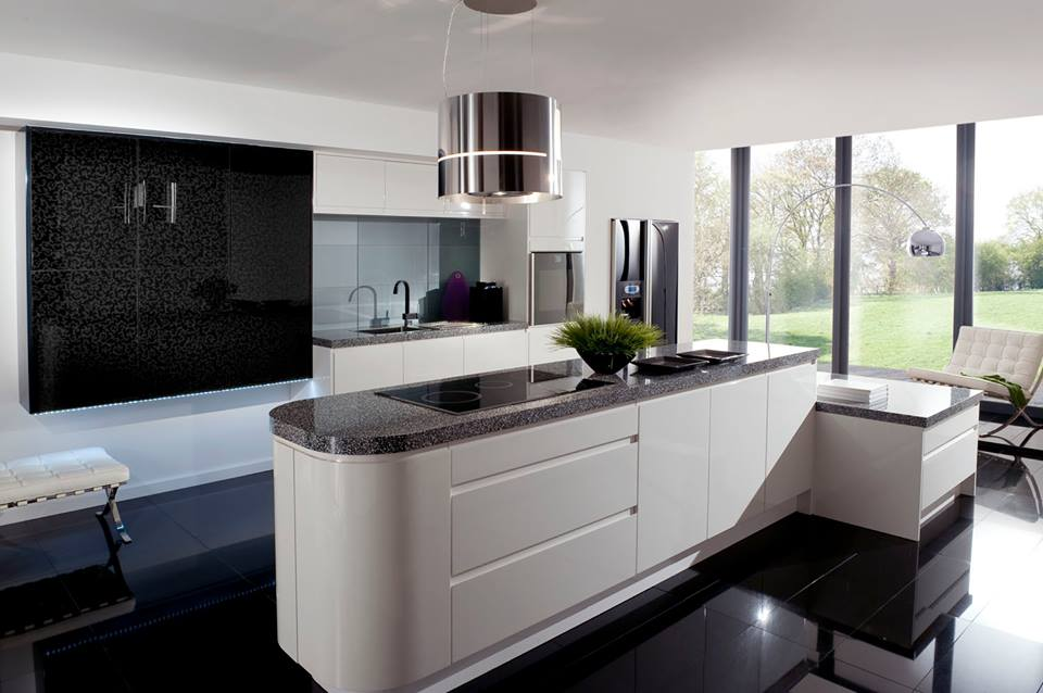 Impressive Kitchen Decorating Design Ideas With Black And White