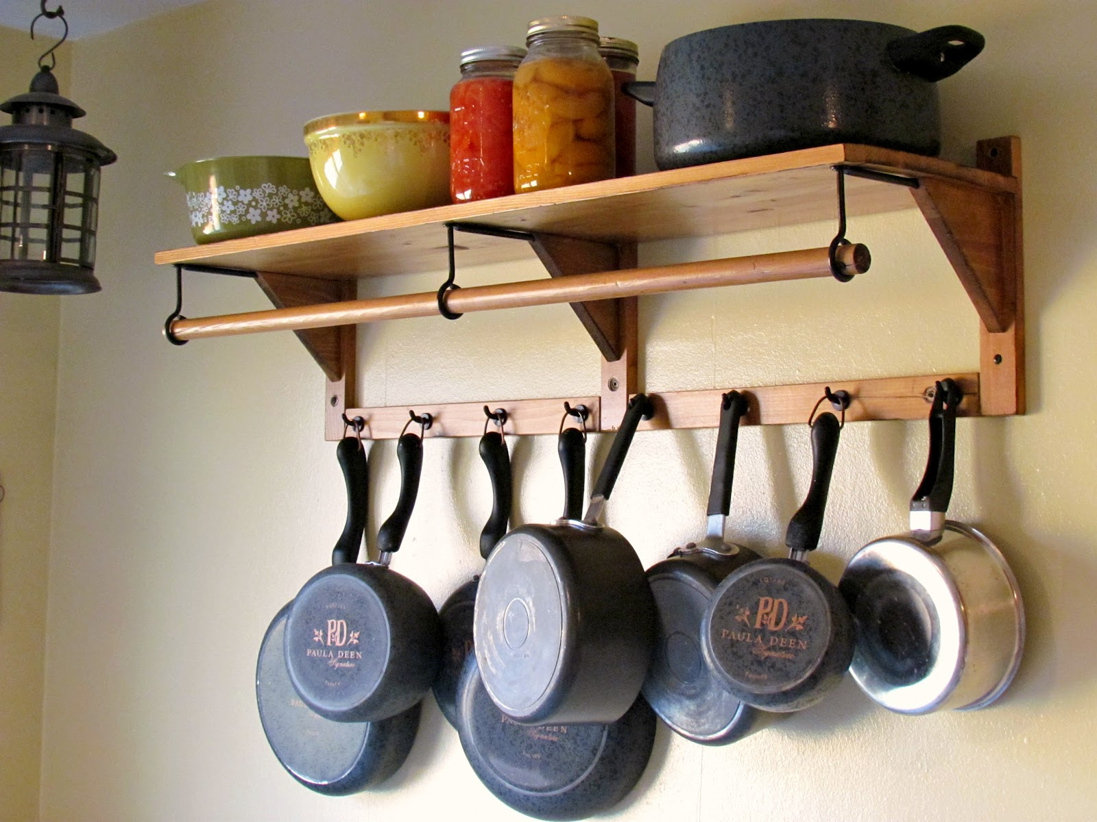 Kitchen Hanging Pan Pot Rack For Organized Kitchen