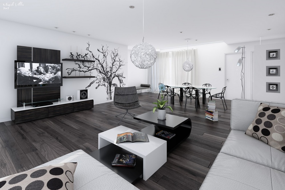 Black And White Room Design Ideas Part - 42: Decorating Your Black And White Living Room