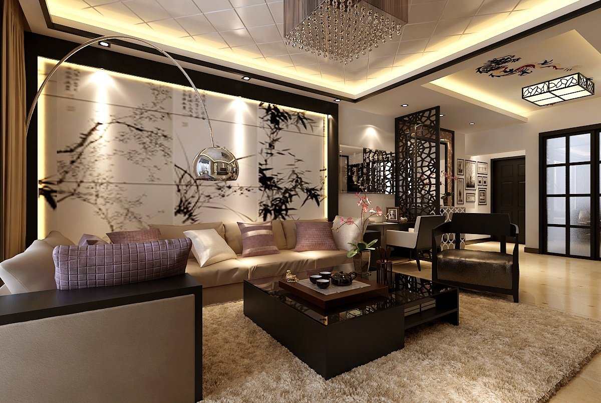 Modern Living Room Decor Meet Chinese-Style Wall Art