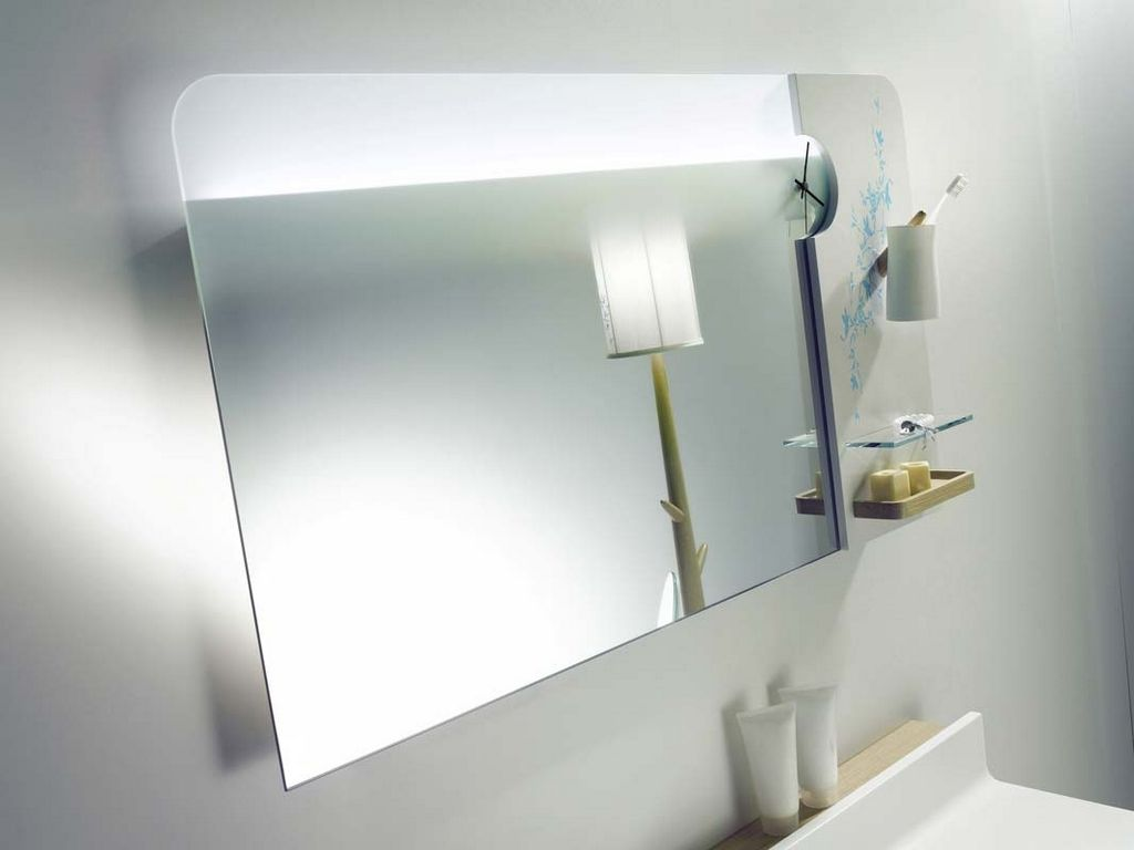 Modern Wall Mounted Mirror Design Idea For Your Bathroom