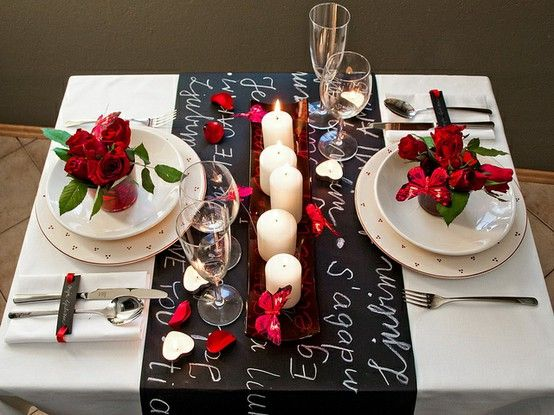 Romantic Decor For Your Own Table For Valentine's Day