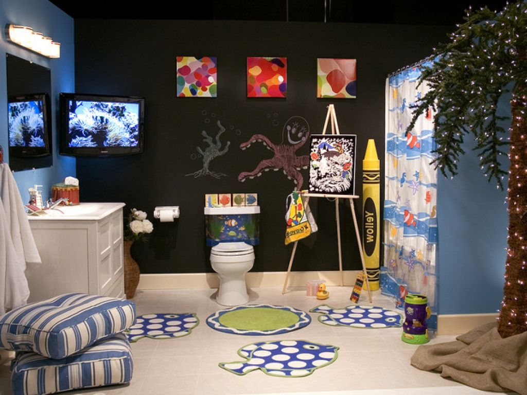 Sea World Theme Design Idea For Your Kids Bathroom