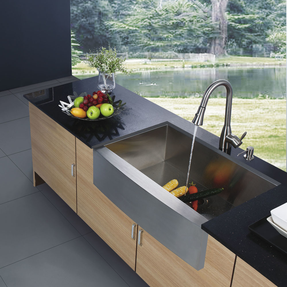 modern stainless steel farmhouse sink for your home. Interior Design Ideas. Home Design Ideas
