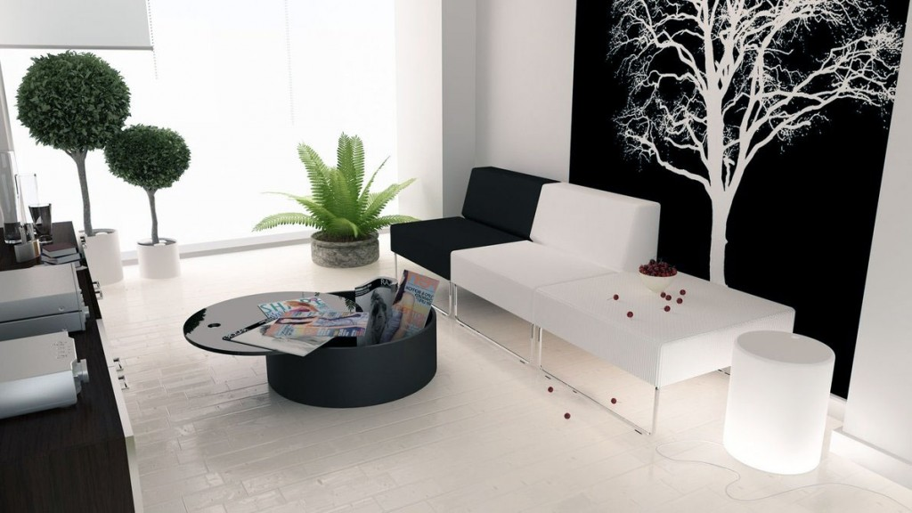 Modern Inspiring Black And White Living Room