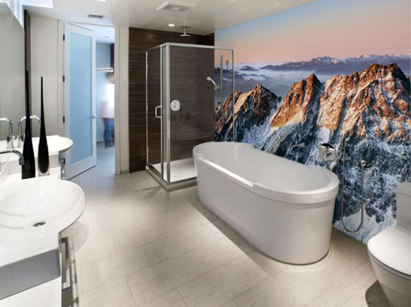 Modern Bathroom Idea Wallpaper