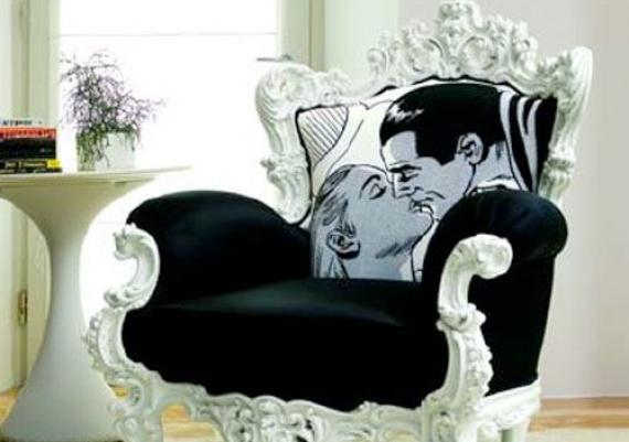 Beautiful Black And White Pop-up Armchair