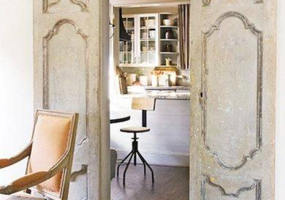 Vintage White Sliding Doors