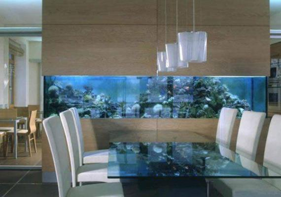 Unique Aquarium Decor Ideas In Dinning Room