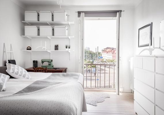 Chic And Modern All White Bedroom In A Flat