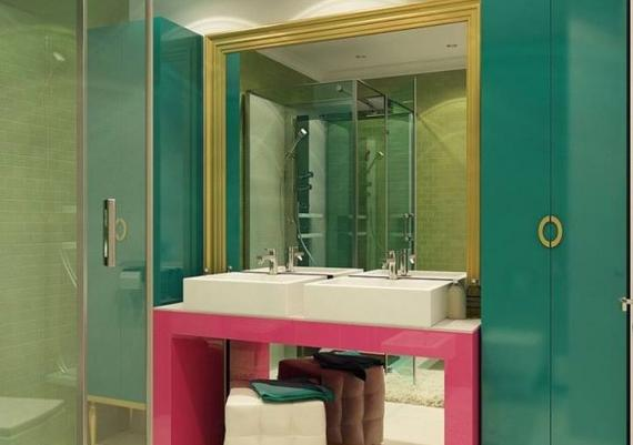 Chic And Cool Pop Art Home Design For Bathroom