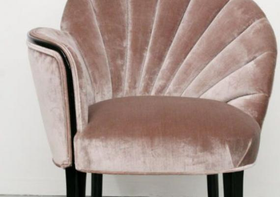 Glamorous Light Pink Velvet Armchair Perfect For Your Living