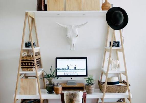Shockingly Chic DIY Desk Unit For Your Home