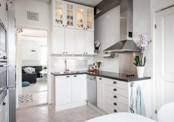 Cool And Modern Black And White Kitchen For Your Home