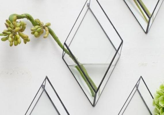 Glass Vase Wall Mounted Great Idea For Your Home