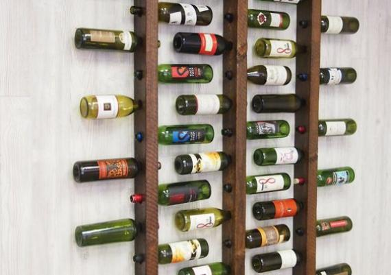 Wine Rack Wall Mounted Ladder
