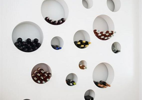 Contemporary Wine Rack White Wall For Your Home