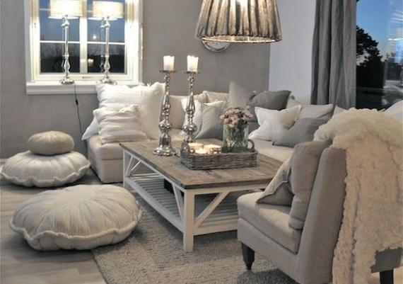 White And Gray Living Room Decorating Ideas