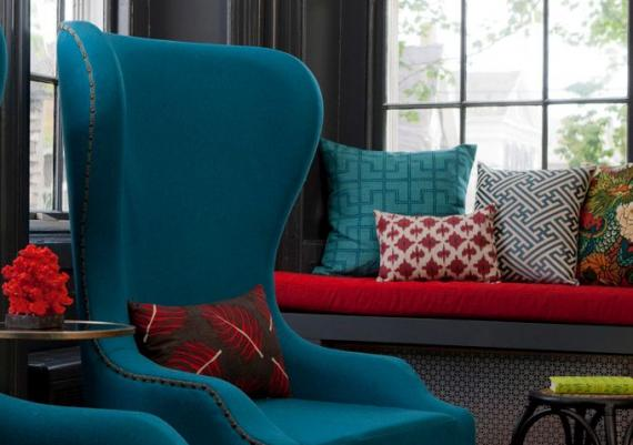 Modern And Comfortable Turquoise Armchair Picture