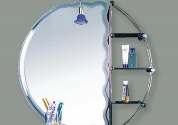 Affordable Small Bathroom Mirror With Shelves For Small Bathrooms
