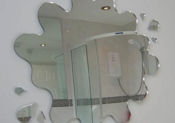 Amazing Unique Bathroom Decoration Mirror Idea Wall Mounted