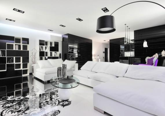 Beautiful Modern Black And White Living Room Ideas