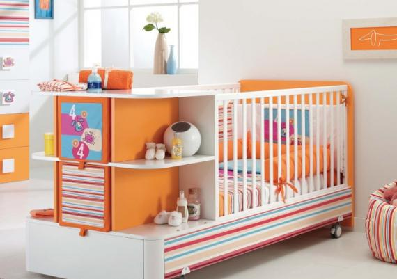 Ultimate Orange And Pink Baby Cribs Design Idea For Your Baby Girl