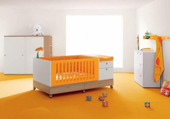 Modern Orange Baby Cribs Design Idea For Home