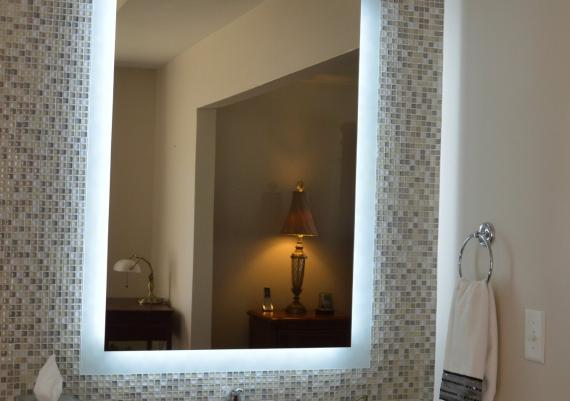 Bathroom Mirror With Lights Attached Design Inspiration