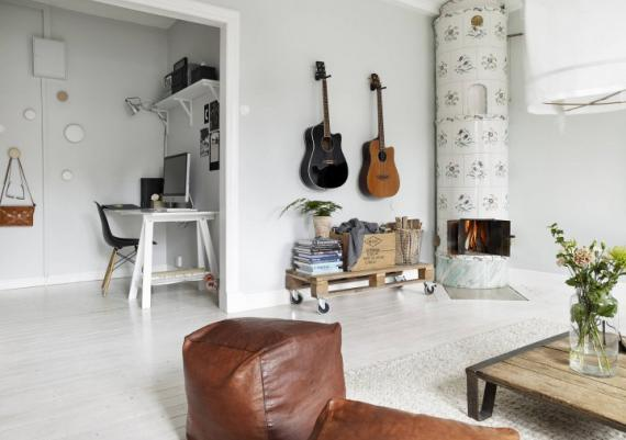 Beautiful Modern Living Room With Rustic Accents Inspiration